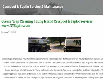 NySeptic.com Blog Post - Grease Trap Blog photo